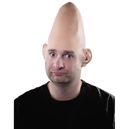 - Egghead Alien Cone Heads Dom Bald Cap Latex Headpiece Adult