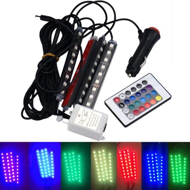 DZT1968® LED for Car Charge Interior RGB Light Accessories Foot Car Decorative