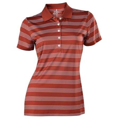 Nike women 39 s dri fit tech striped golf polo shirt red for Women s dri fit polo shirts wholesale