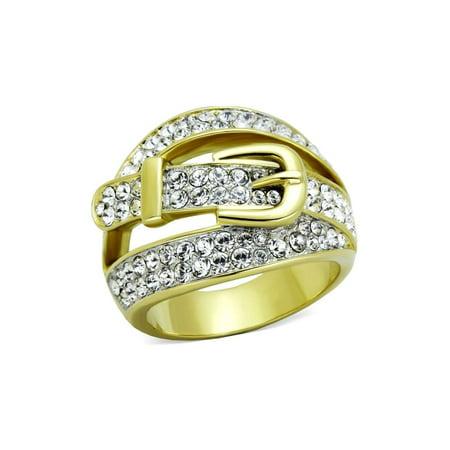 (18mm Designer Belt Buckle Fashion Ring Stainless Steel)