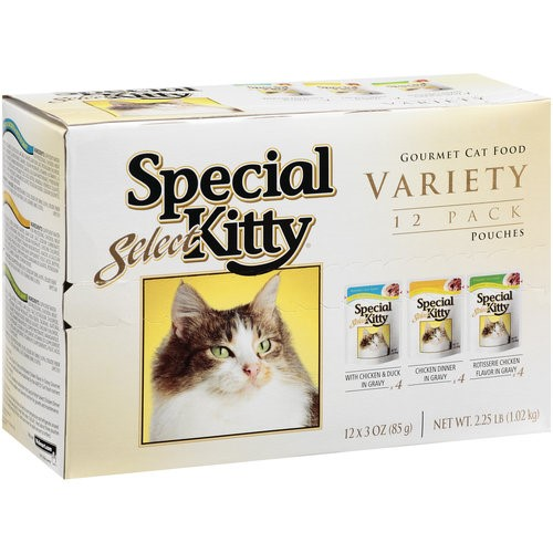 Special Kitty Select Gourmet Wet Cat Food Variety Pack- (12) 3-oz Pouches