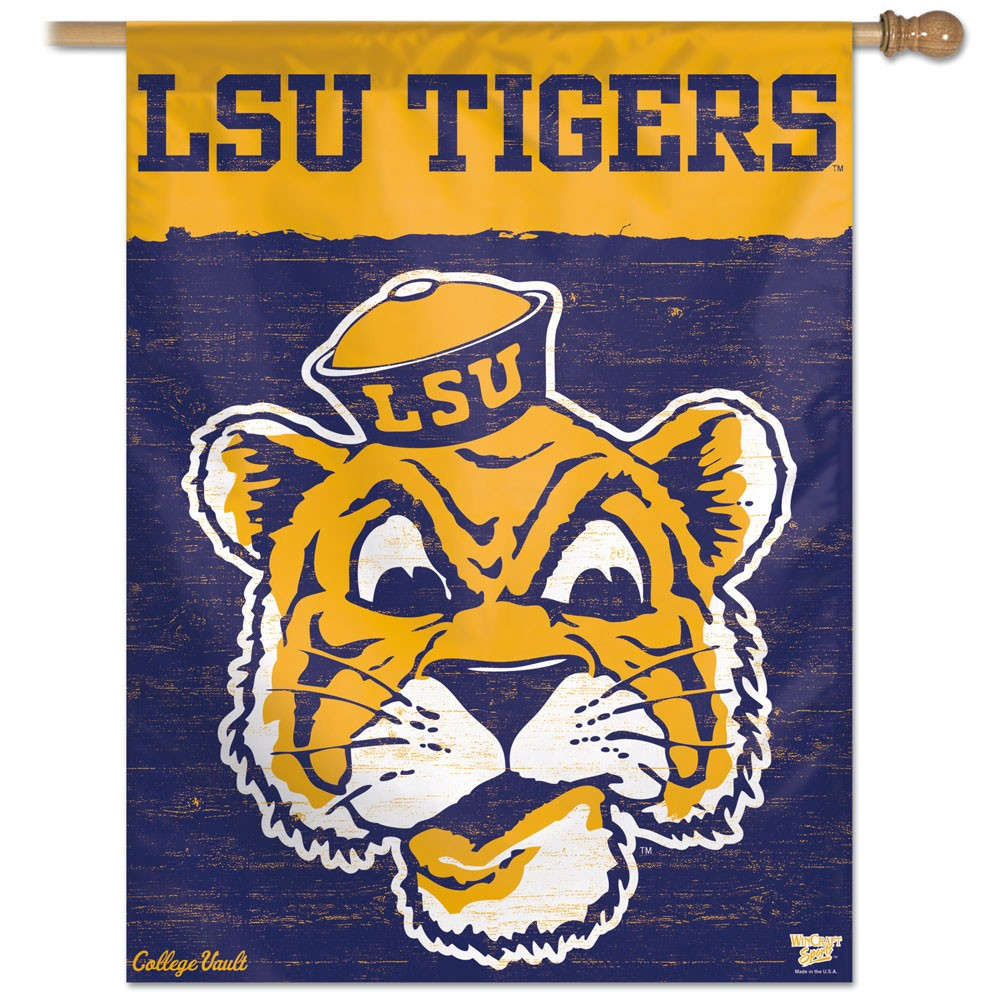 LSU Tigers Official NCAA 27 inch x 37 inch  Banner Flag by Wincraft WN-HouseP-LSUT-Vault