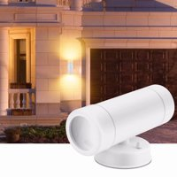 Akoyovwerve Outdoor & Indoor Energy Saving LED Night Light Dual Head Wall Lamp Wireless Battery Operated for Hallway Walkway Living Room Bedroom Hall Porch White