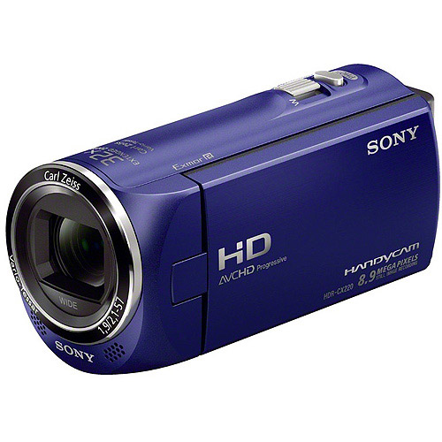 """Sony HDR-CX220/L Blue Handycam Camcorder, 2.7"""" LCD, Image Stabilizer"""