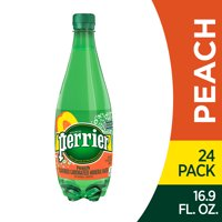 Perrier Peach Flavored Carbonated Mineral Water, 16.9 fl oz. Plastic Bottles (24 Count)