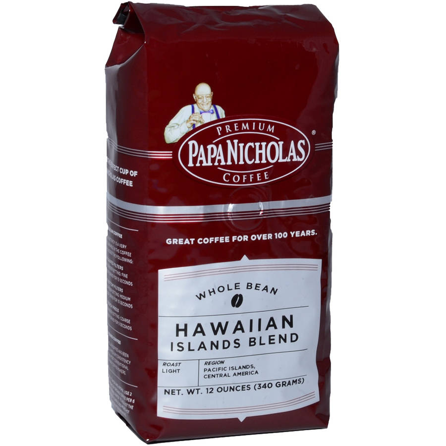 PapaNicholas Hawaiian Islands Blend Whole Bean Coffee, 12 oz