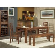 Modus Genus 6 Piece Dining Table Set with Bench