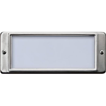 Dabmar Lighting LV602-SS304 2x 20W 12V Recessed Stainless Steel Open Face Brick Step Wall Light - JC Type Lamp, 304 Stainless Steel