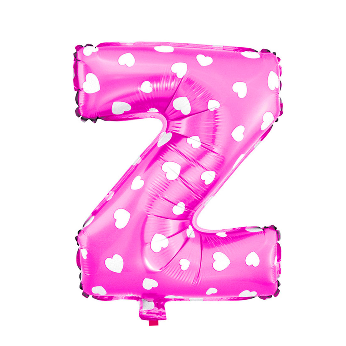 "Unique Bargains Foil Letter Z Heart Pattern Helium Balloon Birthday Wedding Decor Fuchsia 16"""