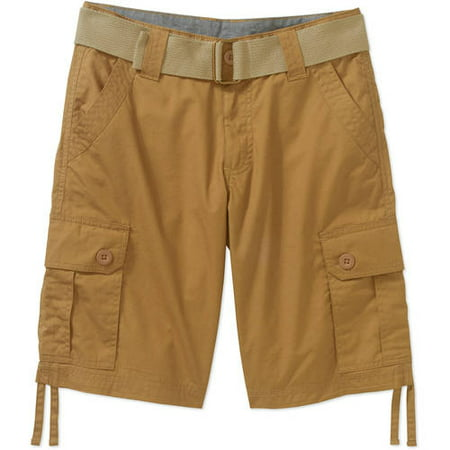 Beverly Hills Polo Club Boys' Belted Fashion Peached Poplin Cargo Shorts