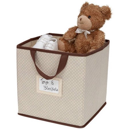 Delta Children 2-Piece Printed Storage Boxes - Beige