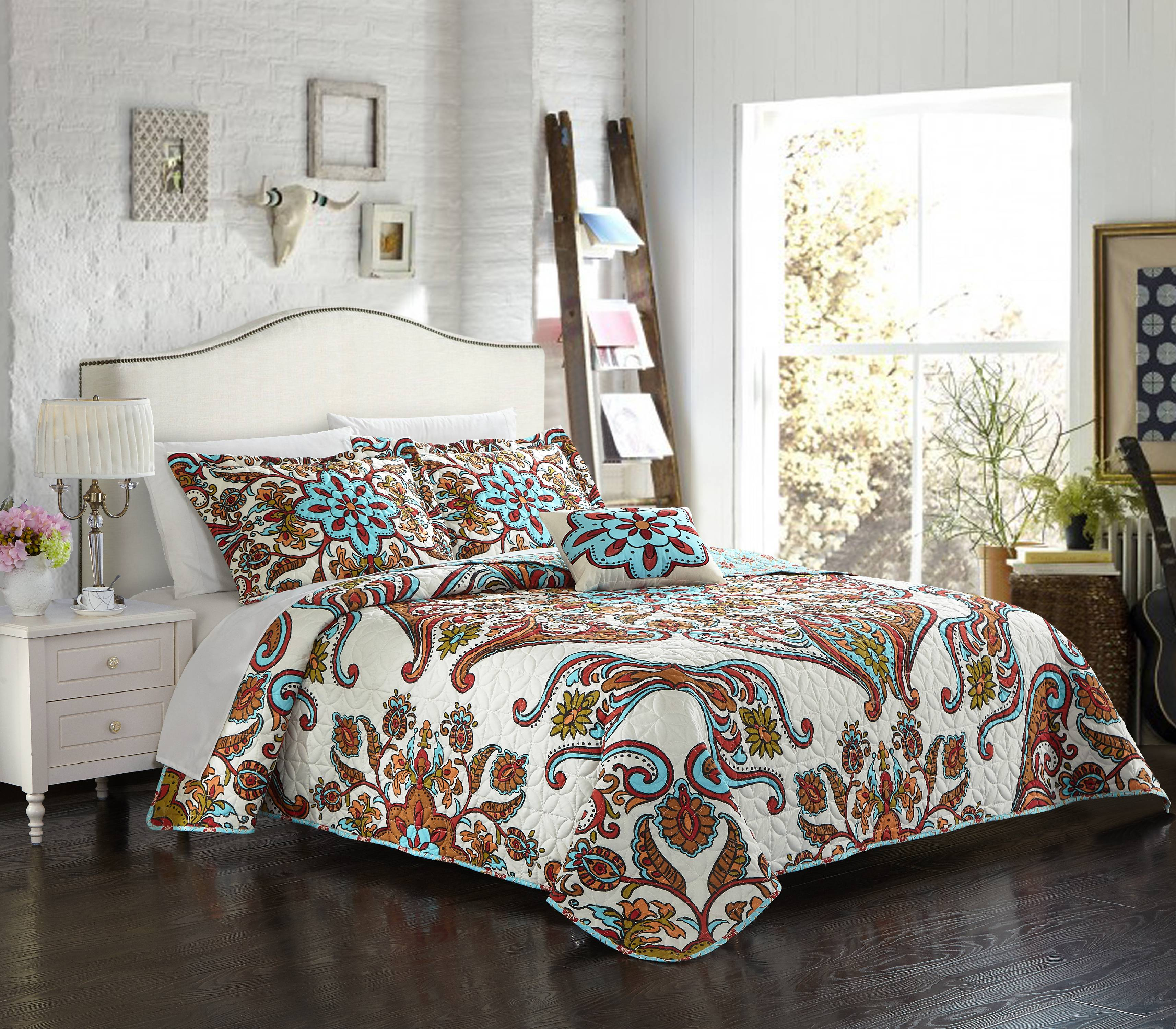 Chic Home Bretagne 4 Piece Reversible Quilt Cover Set by Chic Home