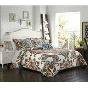 Country quilts chic home bretagne 4 piece reversible quilt cover set fandeluxe Gallery
