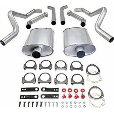JEGS 30526 Header-Back Dual 2-1/2 in. Exhaust Kit 1973-1977 Chevelle