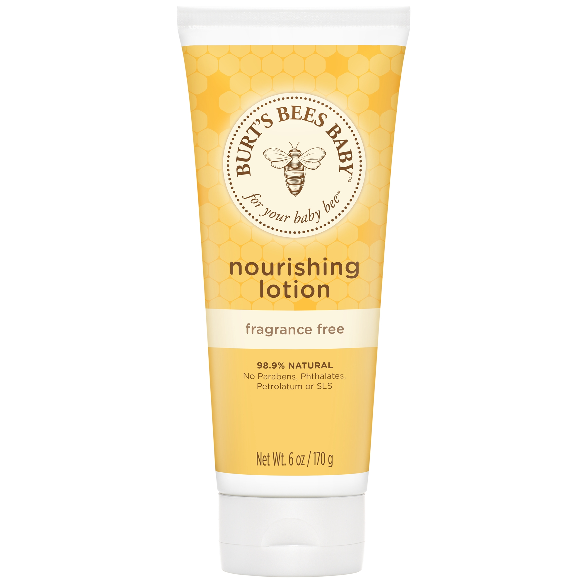 Burt's Bees Baby Nourishing Lotion, Fragrance Free Baby Lotion - 6 oz Tube