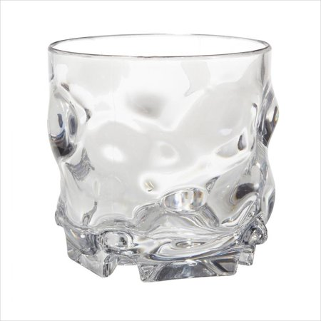 Plastic Reusable L7 Series 9 oz 3.25 x 3.25 Rocks Clear SAN/Case of 24