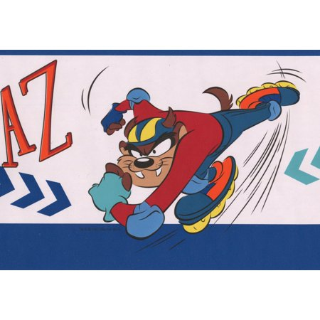 Taz On Skateboard And Rollerblades Looney Tunes Disney Cartoon
