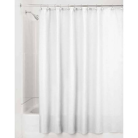 InterDesign York Fabric Shower Curtain Wide 108 X 72 White