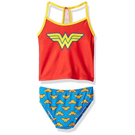 Warner Bros. Big Girls' Wonder Woman Costume Swimsuit, Candy, - Candy Costumes For Women
