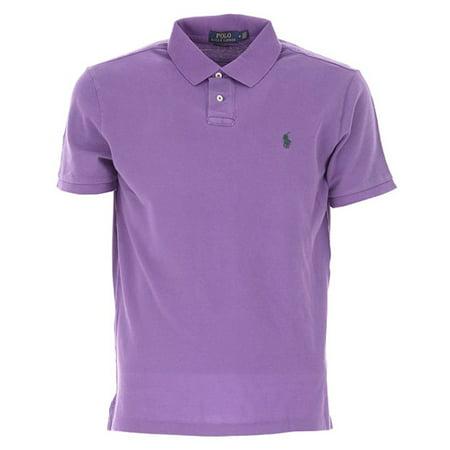 Ralph Lauren Halloween Polo (Men's Polo Ralph Lauren Mesh Classic Fit, Saf Purple (2XL))
