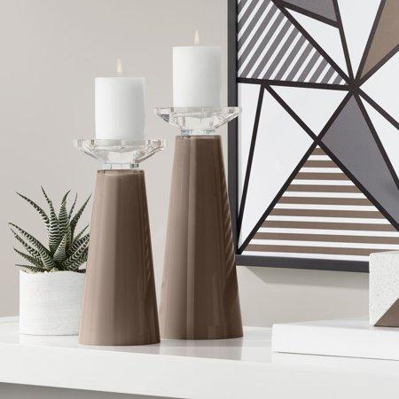 Color + Plus Meghan Carafe Glass Pillar Candle Holder Set of
