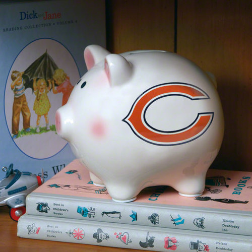 Chicago Bears Team Piggy Bank by The Memory Company