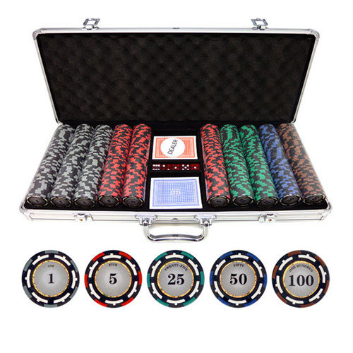 JP Commerce 500 Piece Z-Pro Clay Poker Chips