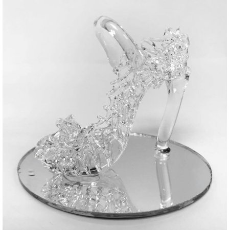 Cinderella Bridal Shower (Glass Crystal High Heel Shoe Cinderella Slipper Favor for Sweet 16 Bridal Shower Birthday Keepsake 10 pcs)