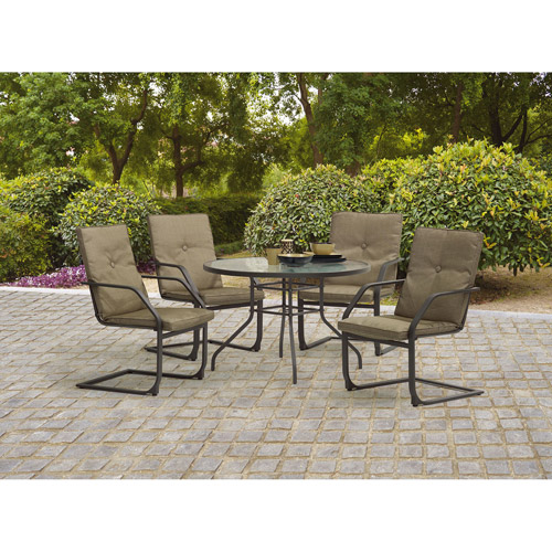 Mainstays Spring Creek 5-Piece Patio Dining Set, Seats 4