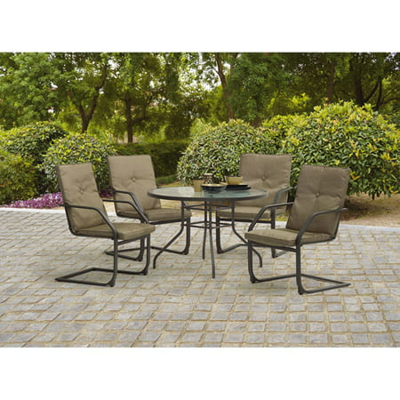 Mainstays Spring Creek 5-Piece Patio Dining Set, Seats 4 - Walmart.com