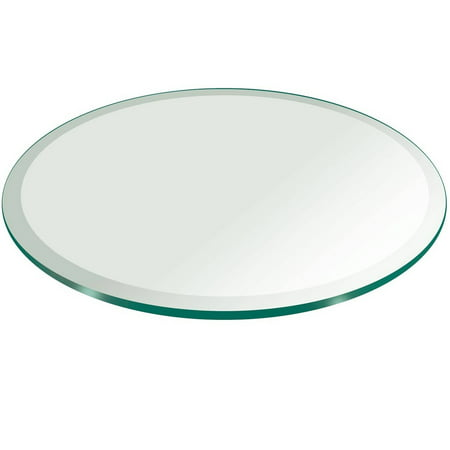 glass table top 52 round 1 2 thick beveled tempered