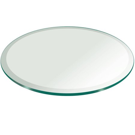 Glass table top 52 round 1 2 thick beveled tempered for Round table 52 nordenham
