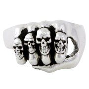 Hellfire Jewelry HellFire Sterling Silver Iron Fist of Punishment Ring
