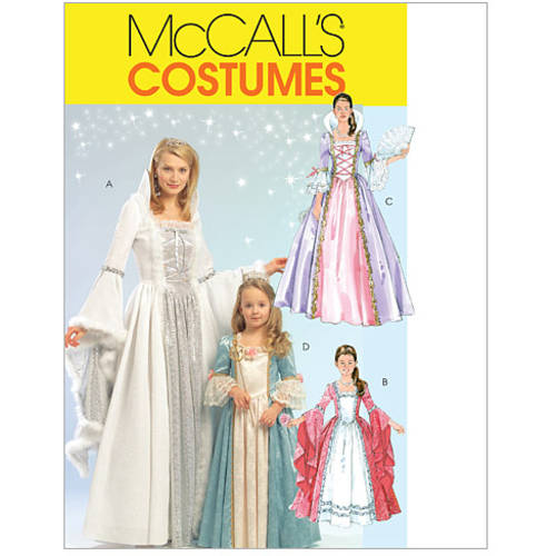 McCall's Misses', Children's and Girls' Princess Costumes, Kids (3, 4, 5, 6, 7, 8)