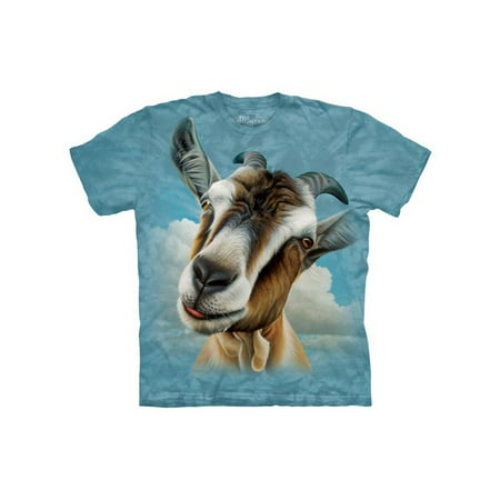 Goat Head Close Up Animal Adult T-Shirt Tee