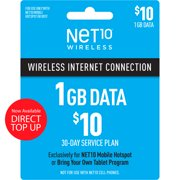 Net10 $10 Mobile Hotspot 30-Day Plan Direct Top Up