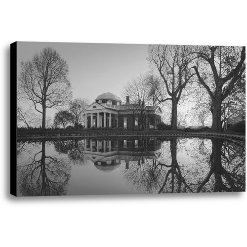 Ashton Wall D cor LLC Jefferson's Monticello by Rod Chase Photographic Print on Wrapped Canvas