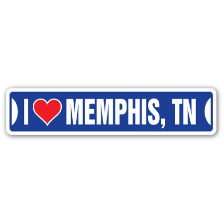 I LOVE MEMPHIS, TENNESSEE Street Sign tn city state us wall road décor gift - Costumes Memphis Tn