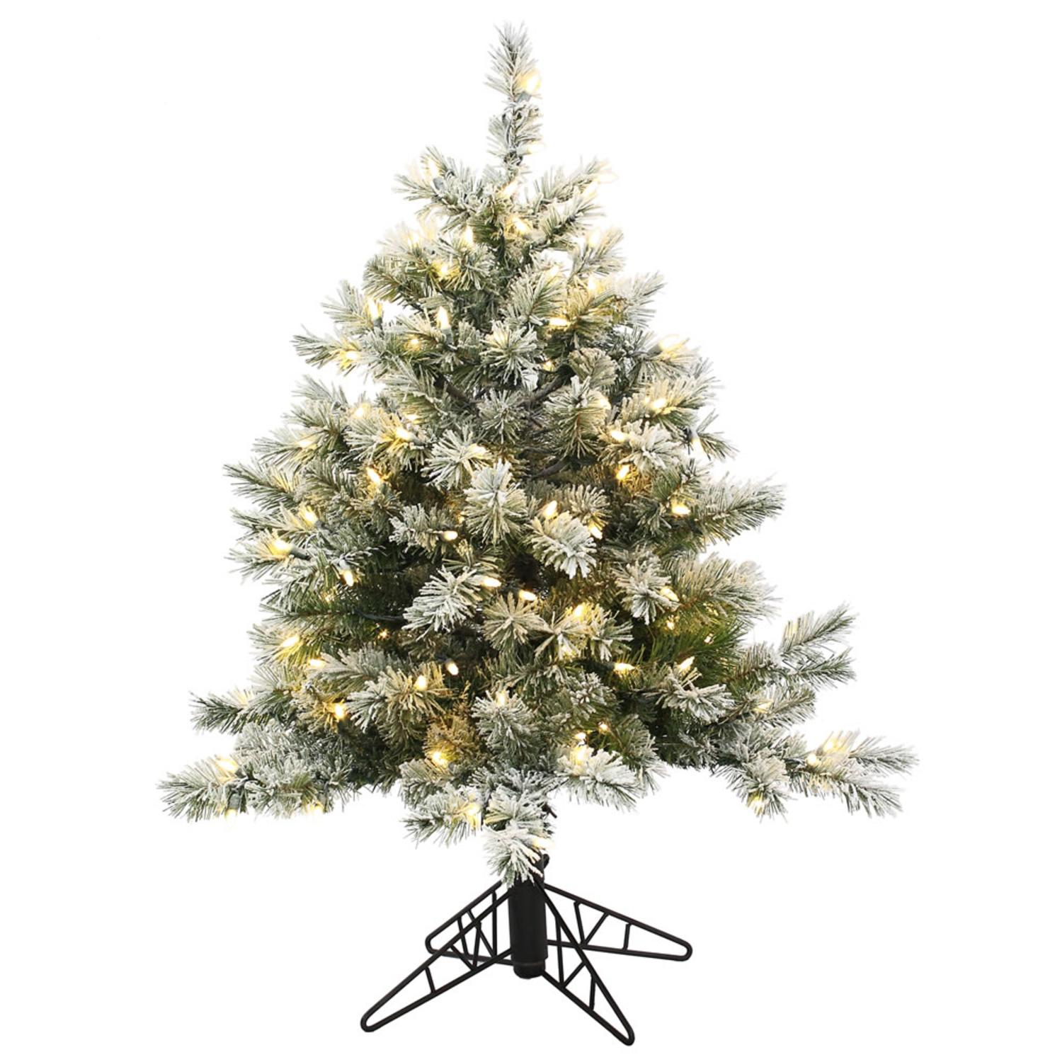 Crestwood small artificial christmas tree with plastic bronze pot - Crestwood Small Artificial Christmas Tree With Plastic Bronze Pot