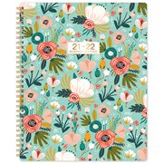 """2021-2022 Monthly Planner/Calendar - 18-Month Planner with Tabs & Double Side Pocket & Label, Jan. 2021 - Jun.2022, Floral Calendar Planners, Contacts and Passwords, 8.5""""x 11"""", Twin-Wire Binding"""