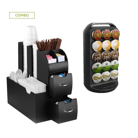 Mind Reader K Cup Carousel And Coffee Condiment Caddy Organizer Pod Holder