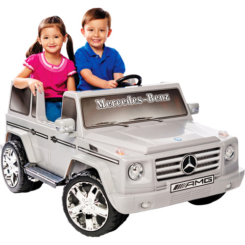 Kid Motorz Mercedes Benz G Class 12-Volt Battery-Powered Ride-On, Silver