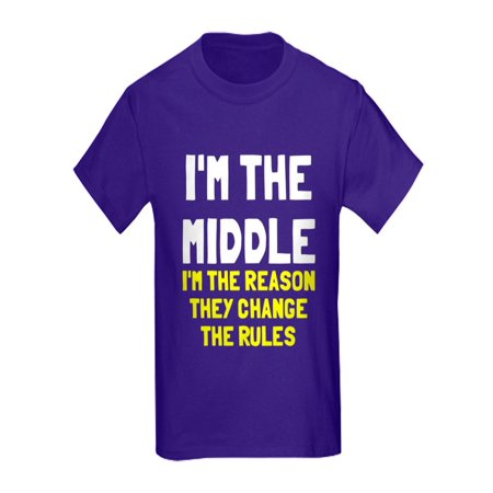 CafePress - I'm The Middle Change Rules Kids Dark T Shirt - Kids Dark T-Shirt