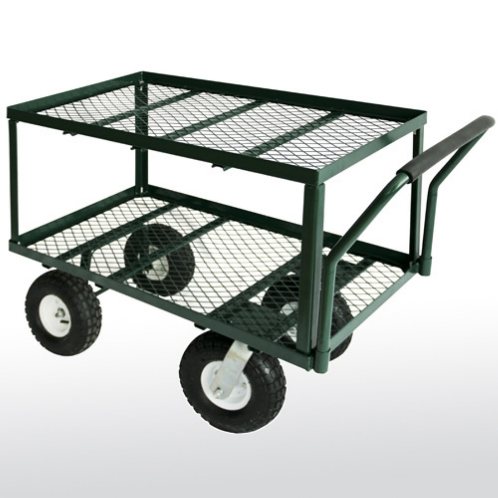 Sandusky Lee 2-Tier Flat Wagon with Pull Handle