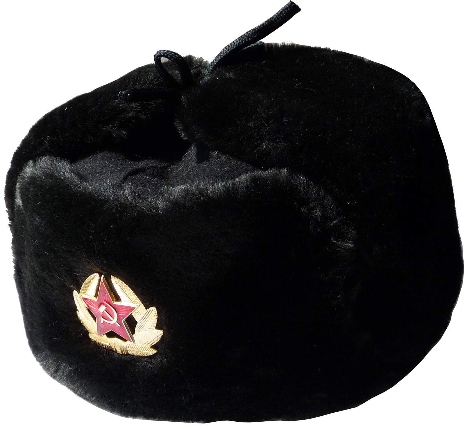 Ushanka winter hat Russian Navy Seaman Black