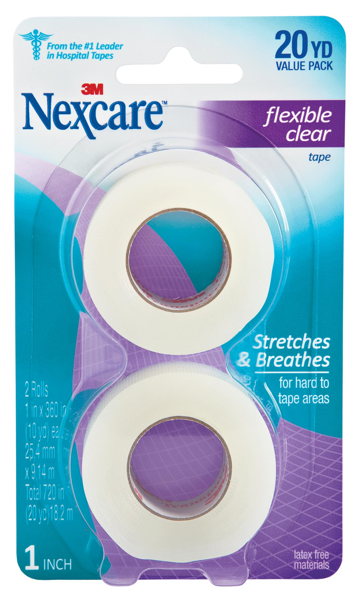 Nexcare Flexible Clear, 1 in x 360 in – Walmart Inventory