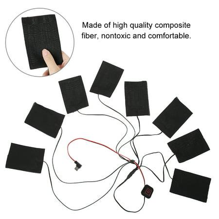Chargement USB ext/érieur dhiver Gilet Auto-Chauffant Protections de Taille Chaudes et Chaudes V/êtements pour Homme et Femmes d/âge Moyen et /âg/és V/êtements Thermiques Lixada Gilet Chauffant