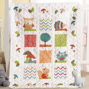 "Bucilla   Baby Stamped Cross Stitch Crib Cover by Plaid, Woodland Baby, 34"" x   43"""