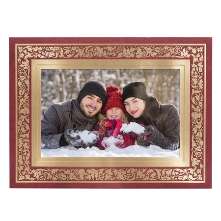 Regal Borders Red Photo Christmas Card, Set of - Christmas Cards Photo