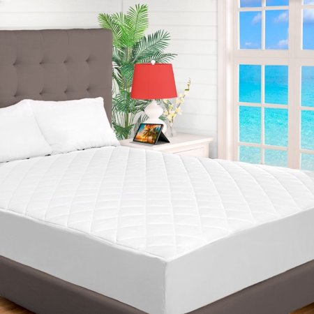 Bare Home Quilted Fitted Mattress Pad Cooling Mattress Topper Hypoallergenic Down